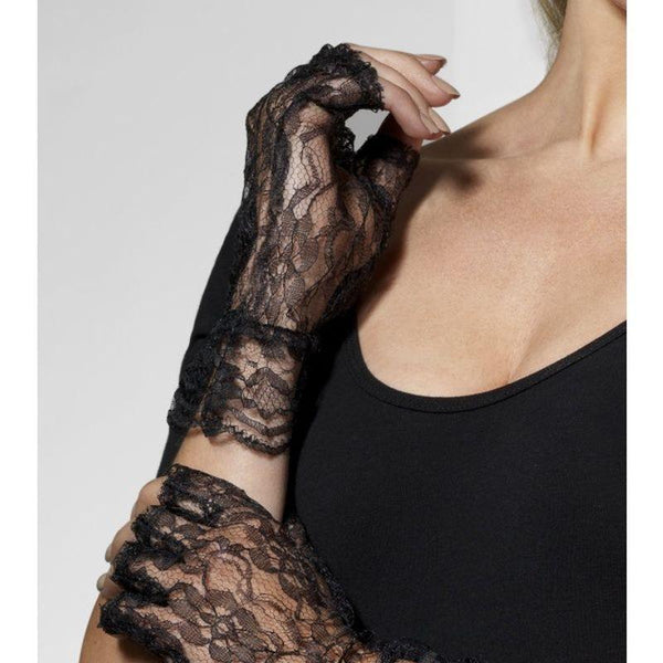 Fingerless Lace Gloves - One Size