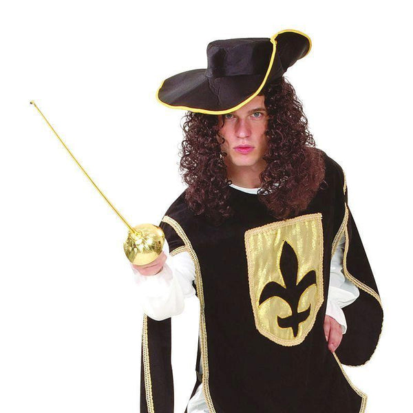 Mens Musketeer Man. Black. Adult Costumes - Male - One Size. Halloween Costume