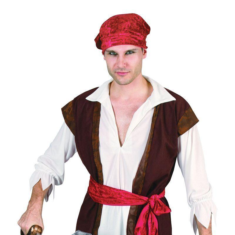 Mens Pirate Man (Brown Waistcoat). Adult Costumes - Male - One Size. Halloween Costume