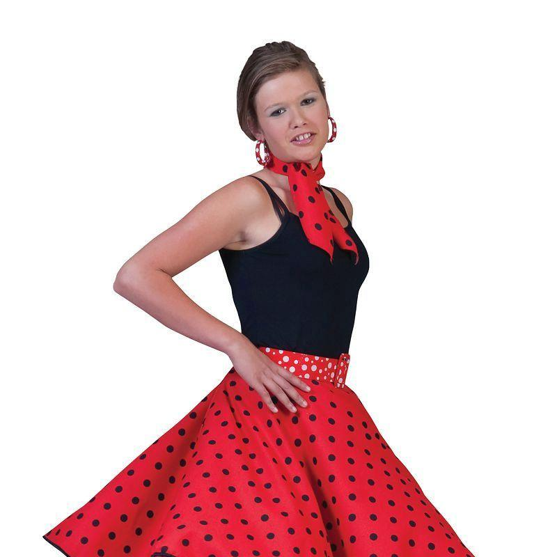 Womens Rock N Roll Skirt Red Adult Costume - Female - One Size Halloween Costume