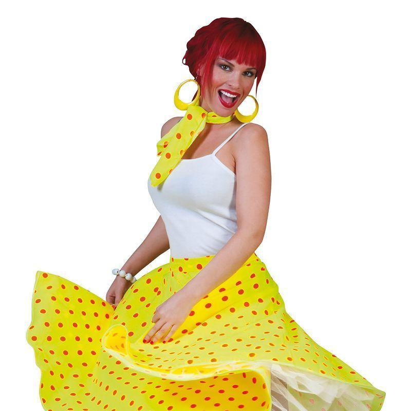 Womens Rock N Roll Skirt Yellow Adult Costume - Female - One Size Halloween Costume