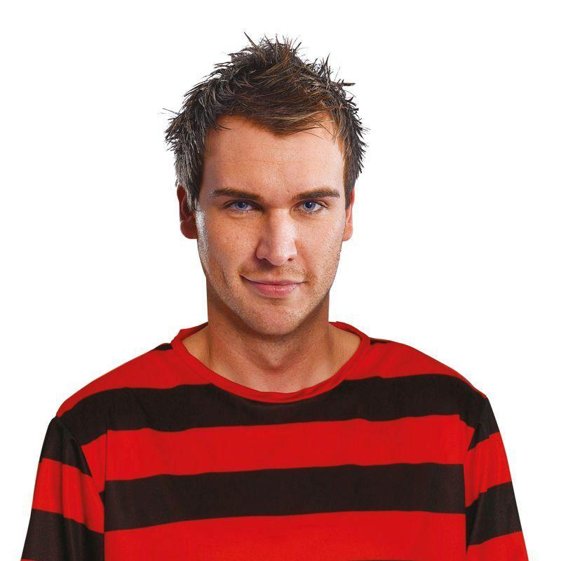 Mens Red/Black Jumper, Dennis The Menace. Adult Costumes - Male - One Size Halloween Costume