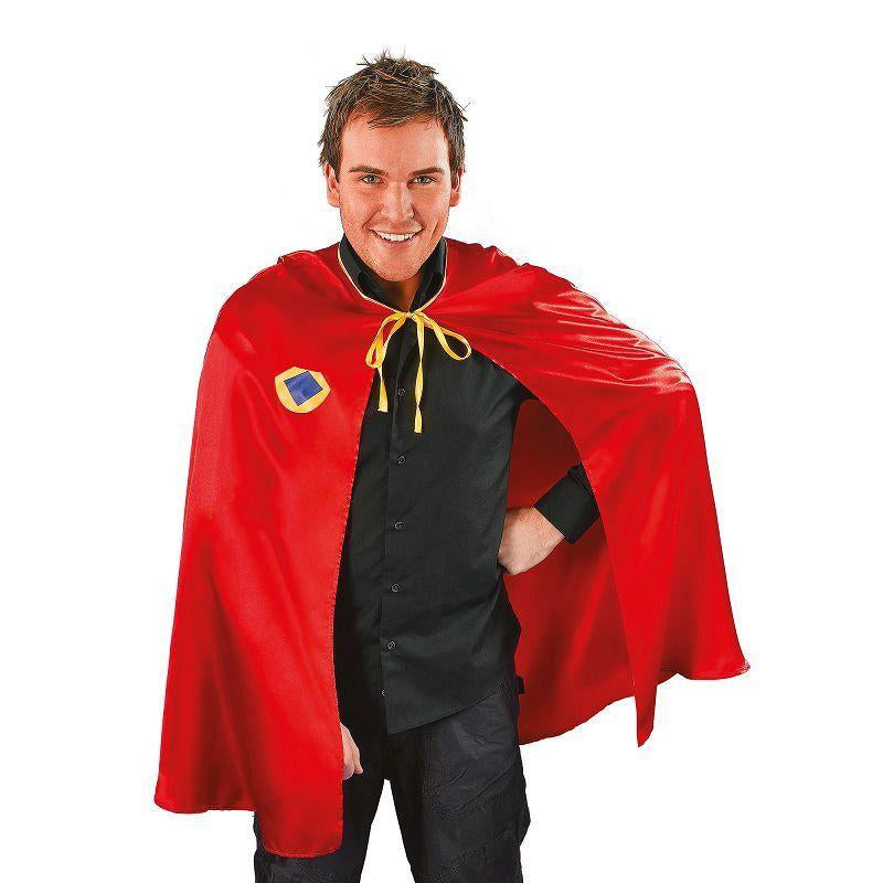 Mens Superhero Cape. Red Adult Costume - Male - One Size Halloween Costume