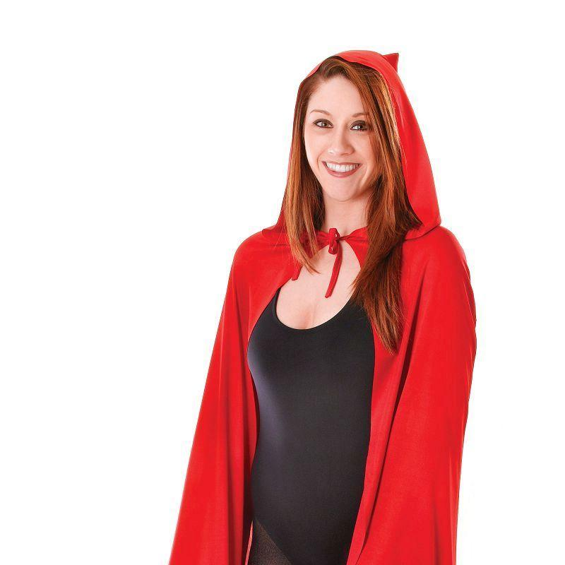 Womens Hooded Cape Red Adult Costume - Female - One Size Halloween Costume