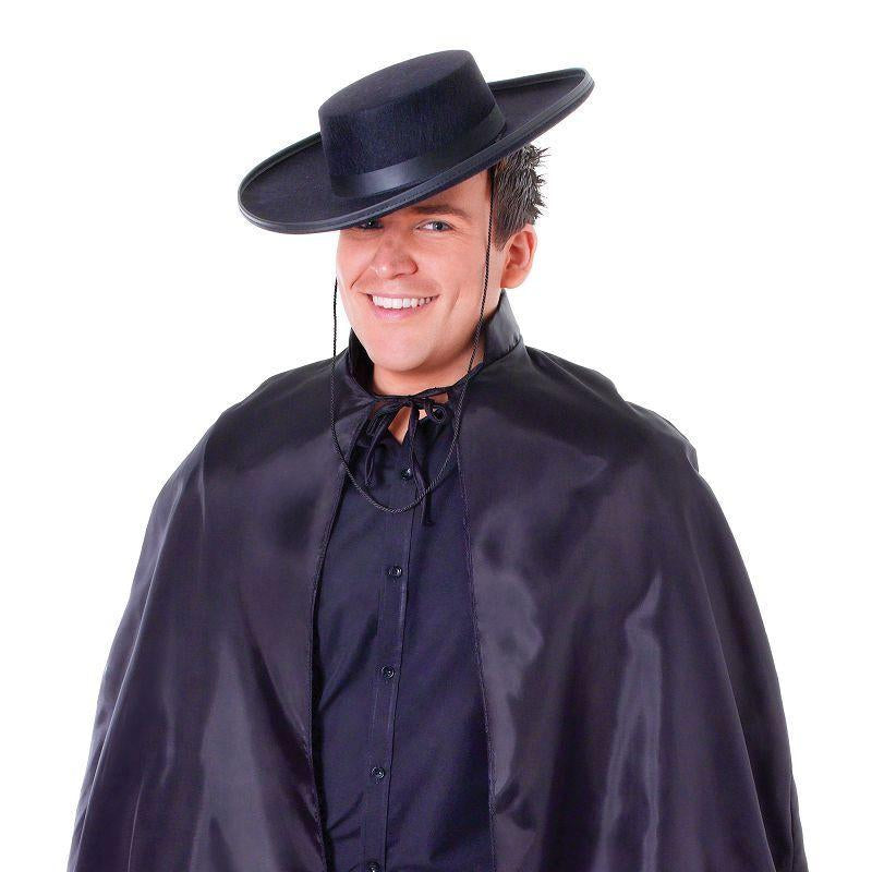 Mens Bandit Cape With Collar Adult Costume - Male - One Size Halloween Costume