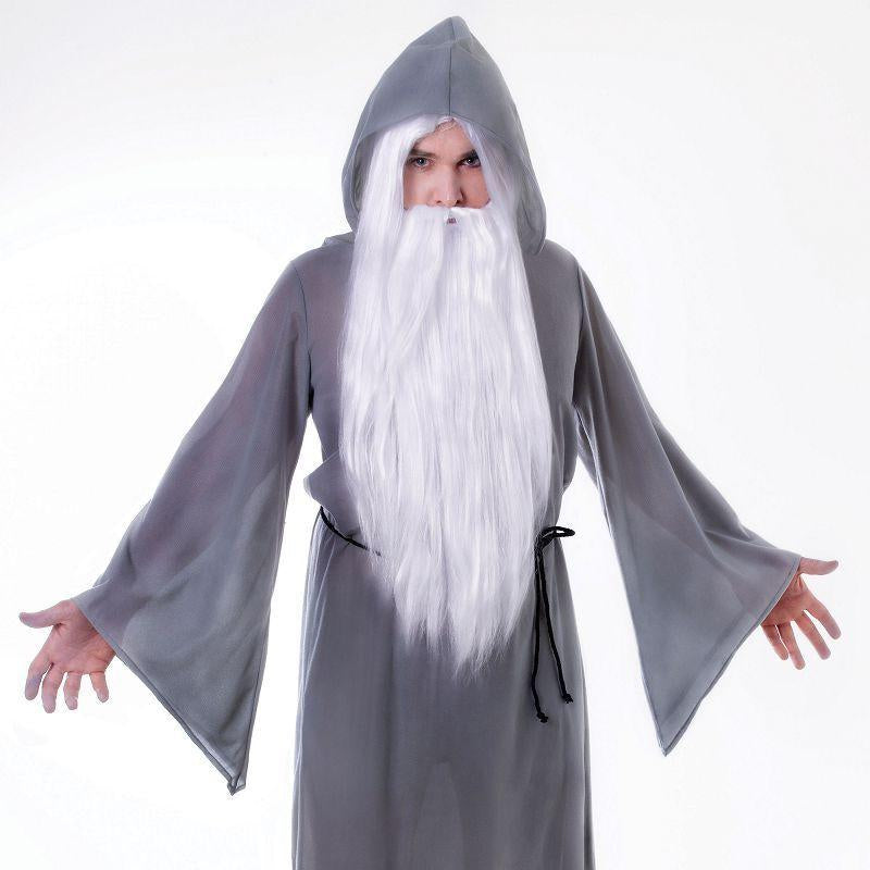 Mens Wizard Cloak. Grey Adult Costume - Male - One Size Halloween Costume