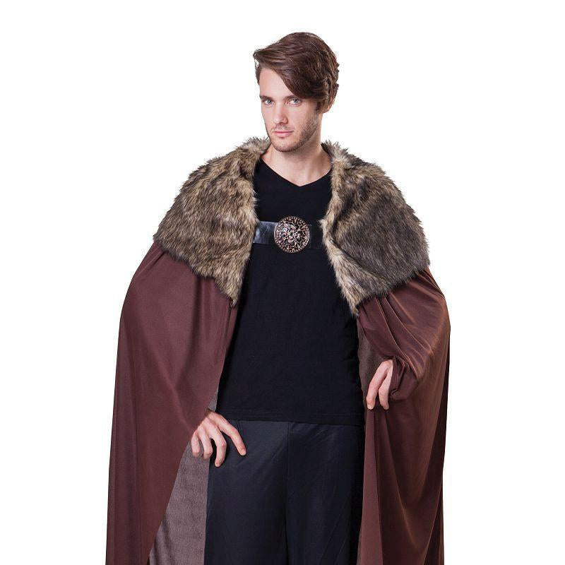 Cape Deluxe Mens with Plush Collar (Adult Costumes) - Male - One size fits most
