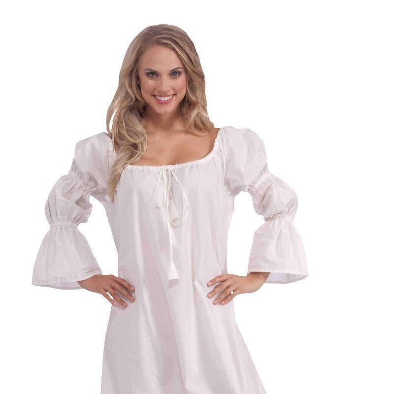 Womens Medieval Chemise Adult Costumes - Female - One Size Halloween Costume