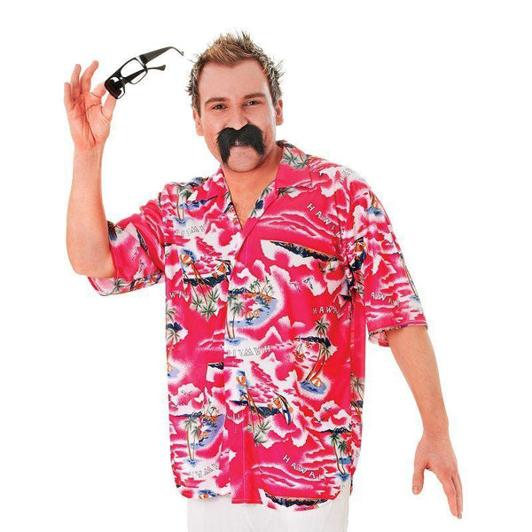 Mens Hawaiian Floral Shirt Adult Costume - Male - One Size Halloween Costume