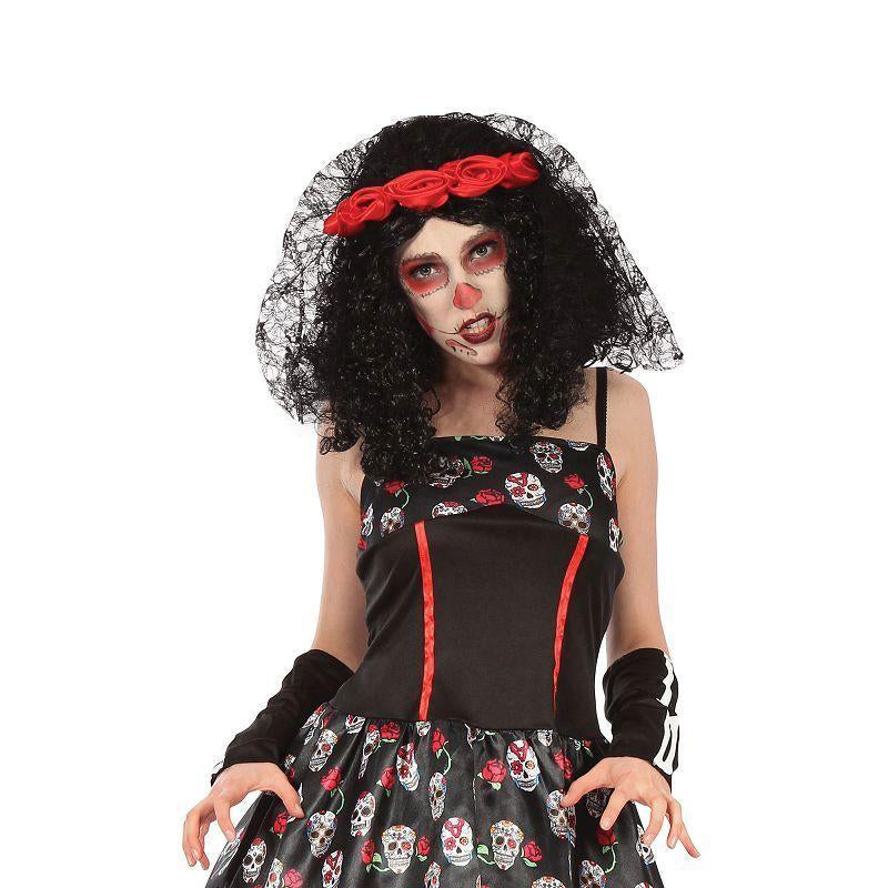 Day of the Dead Skull Dress (Adult Costumes) - Female - UK Size 10-14