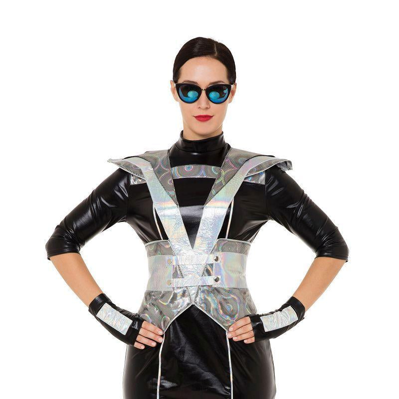Futuristic Police Lady Costume (Adult Costumes) - Female - UK Size 10-14