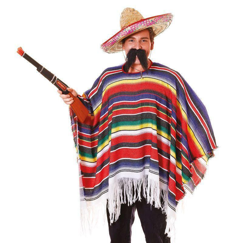 Mens Mexican Poncho. Packaged Adult Costume - Male - One Size Halloween Costume
