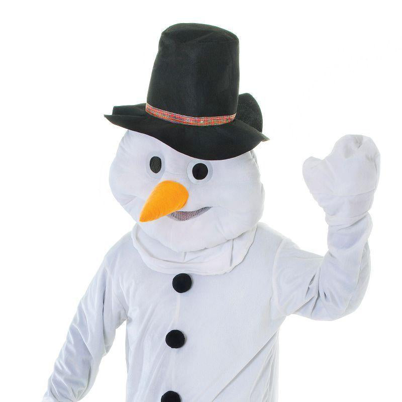 Snowman. Big Head Adult Costume - Unisex - One Size