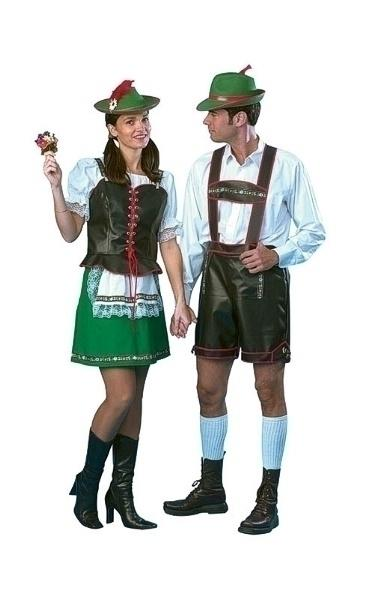 German Man Ff Adult Fancy Dress Costume Mens Green White