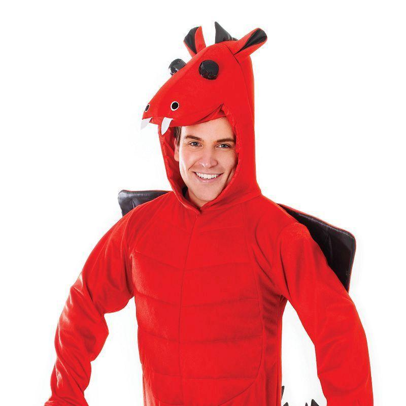 Mens Red Dradon. Adult Costume- Male - One Size Halloween Costume