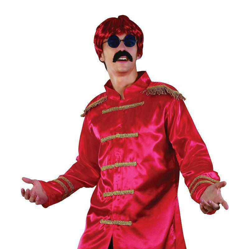 Mens Sgt Pepper Jacket Budget. Red. Adult Costume- Male - One Size Halloween Costume