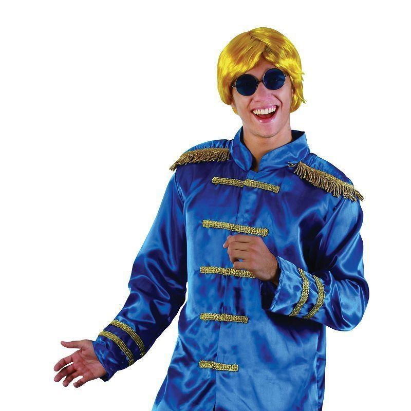 Mens Sgt Pepper Jacket Budget. Blue. Adult Costume- Male - One Size Halloween Costume