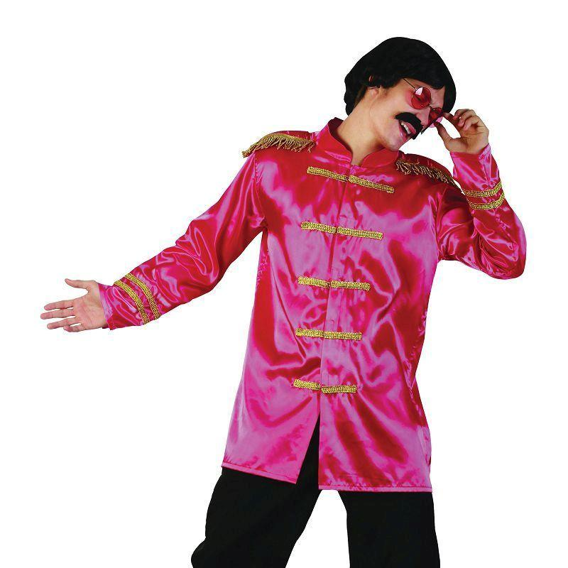Mens Sgt Pepper Jacket Budget. Pink. Adult Costume- Male - One Size Halloween Costume