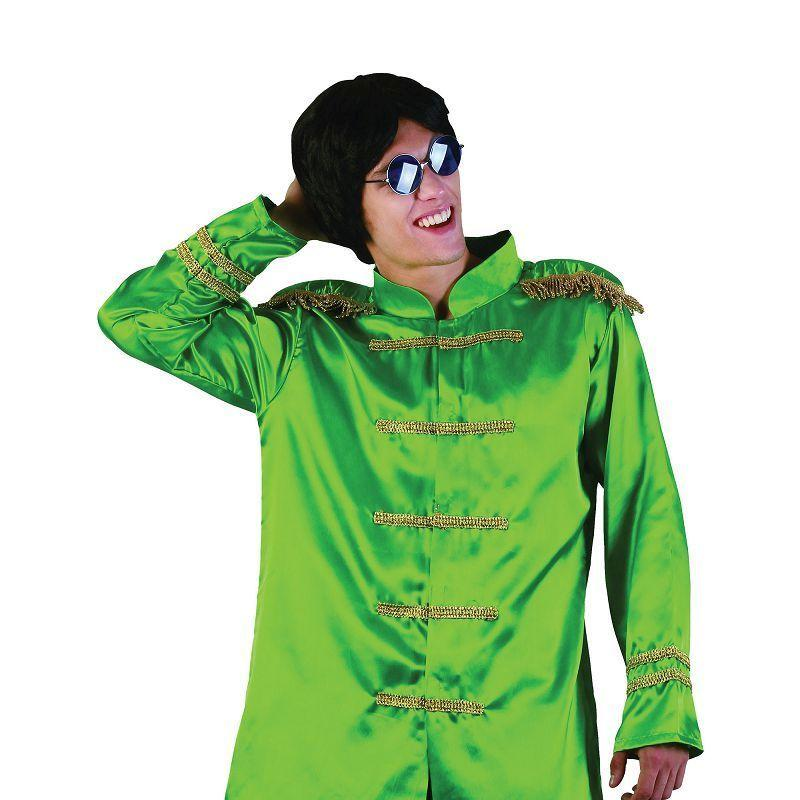 Mens Sgt Pepper Jacket Budget. Green. Adult Costume- Male - One Size Halloween Costume