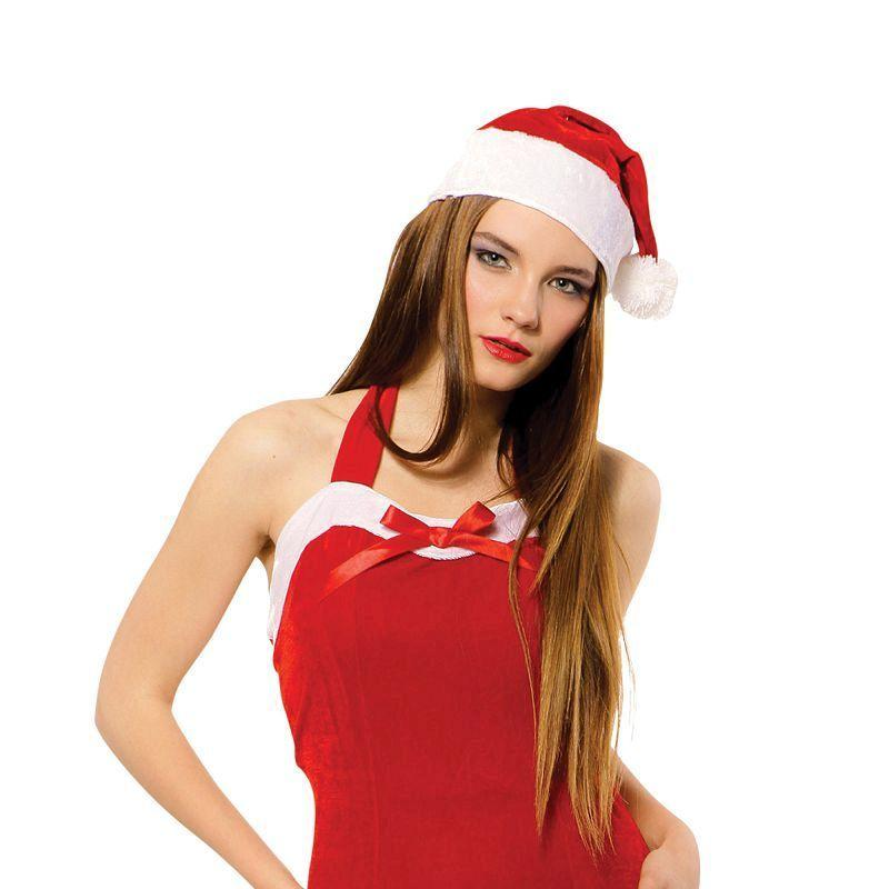 Womens Christmas Sweetie Dress + Hat Adult Costumes - Female - One Size Halloween Costume