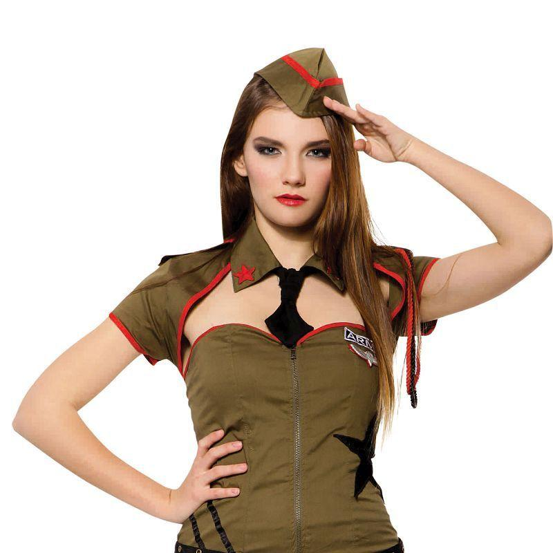Womens Sexy Soldier Adult Costumes - Female - One Size Halloween Costume