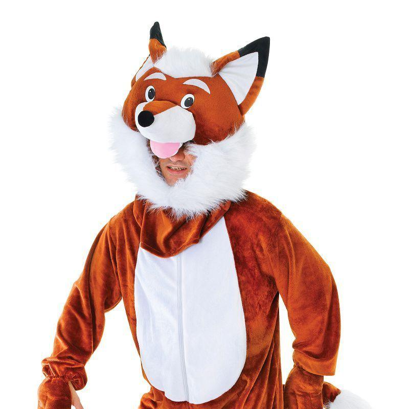 Mens Mr Fox Big Head. Adult Costume- Male - One Size Halloween Costume