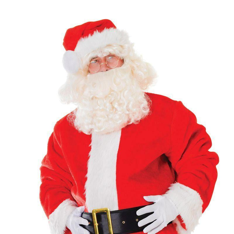 Mens Santa Suit. Plush Deluxe Adult Costumes - Male - One Size Halloween Costume