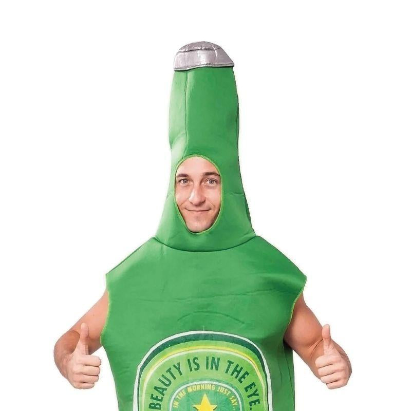 Mens Beer Bottle Adult Costume - Male - One Size Halloween Costume
