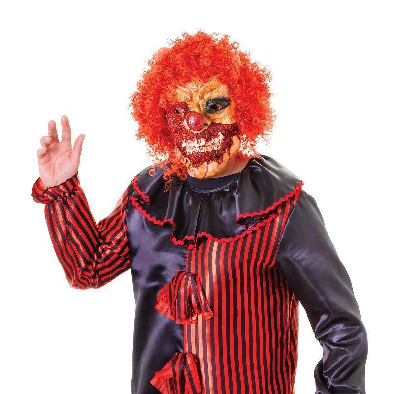 Mens Zombie Clown + Mask. Adult Costumes - Male - One Size Halloween Costume