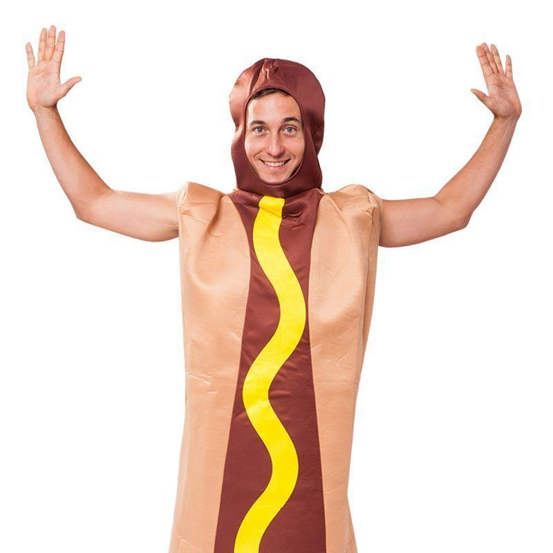 Mens Hot Dog Adult Costume - Male - One Size Halloween Costume