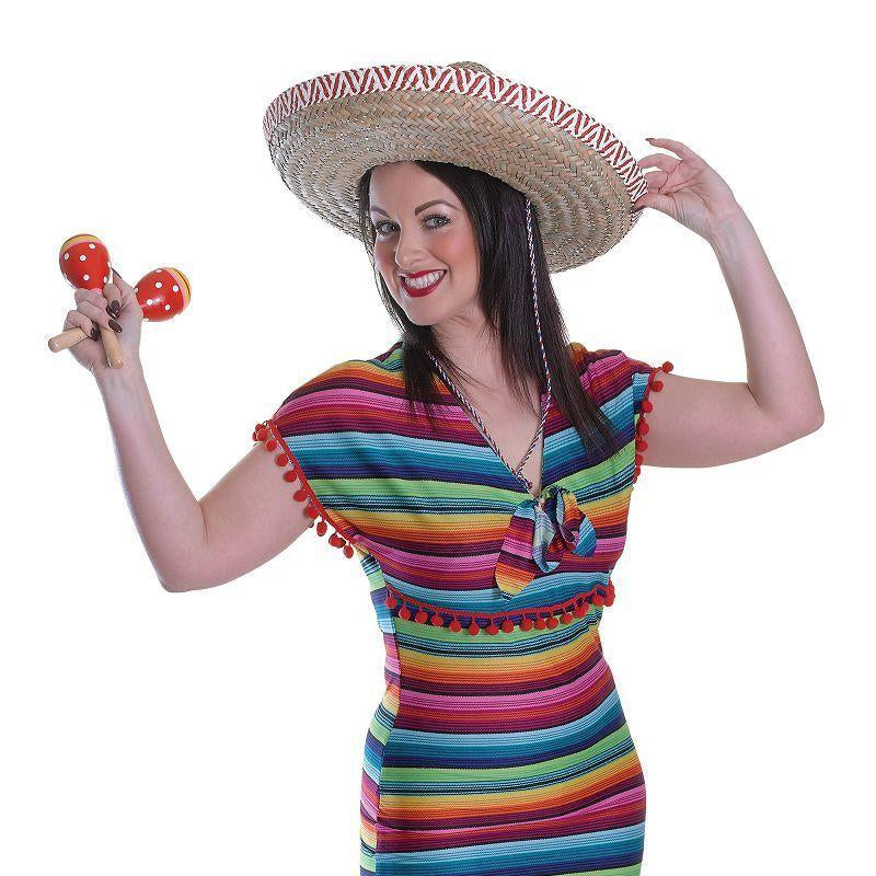 Womens Mexican Lady Dress( Adult Costumes) - Female - One Size Halloween Costume
