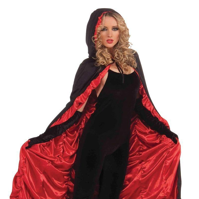 Womens Coffin Cape (Adult Costumes) - Female - One Size Halloween Costume