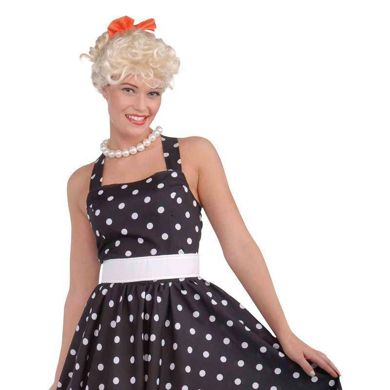 Womens 50s Cutie Dress (Adult Costumes) - Female - One Size Halloween Costume