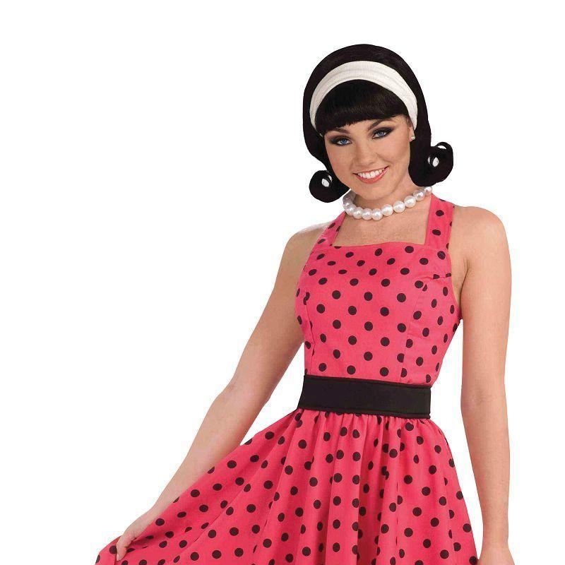 Womens Pretty in Polkadots Dress (Adult Costumes) - Female - One Size Halloween Costume