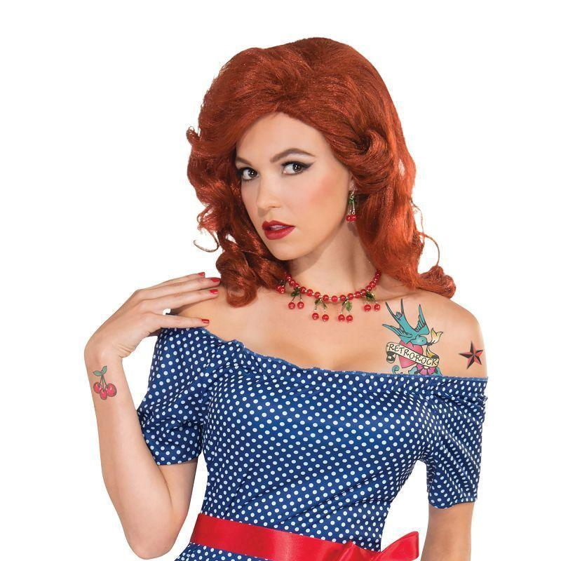 Womens Betty Blue Dress Retro. (Adult Costumes) - Female - Uk Size 10-14 Halloween Costume