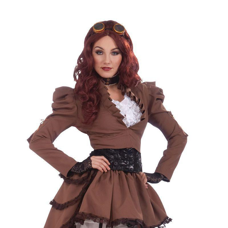 Womens Steampunk Vicky (Hoop Skirt). (Adult Costumes) - Female - Uk Size 10-14 Halloween Costume