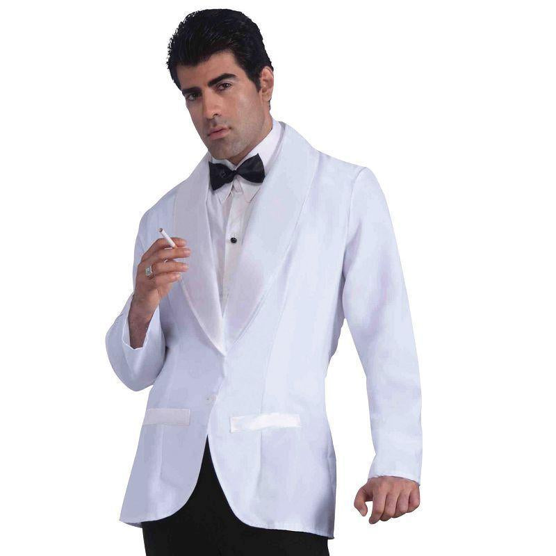 Mens Formal White Jacket (Adult Costumes) - Male - One Size Halloween Costume