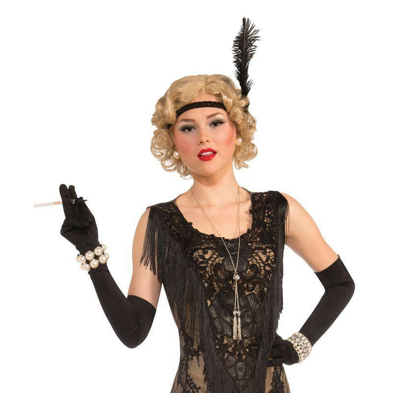 Womens Lacey Lindy (Deluxe Flapper Dress) (Adult Costumes) - Female - One Size Halloween Costume