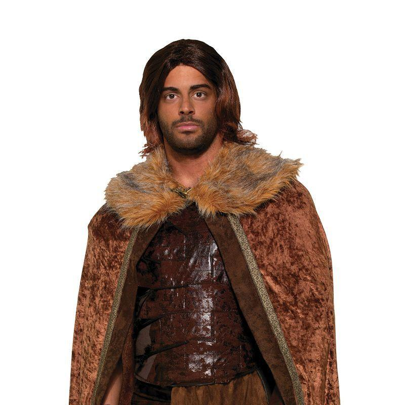 Mens Faux Fur Trimmed Cape Brown. Male (Adult Costumes) - Male - One Size Halloween Costume