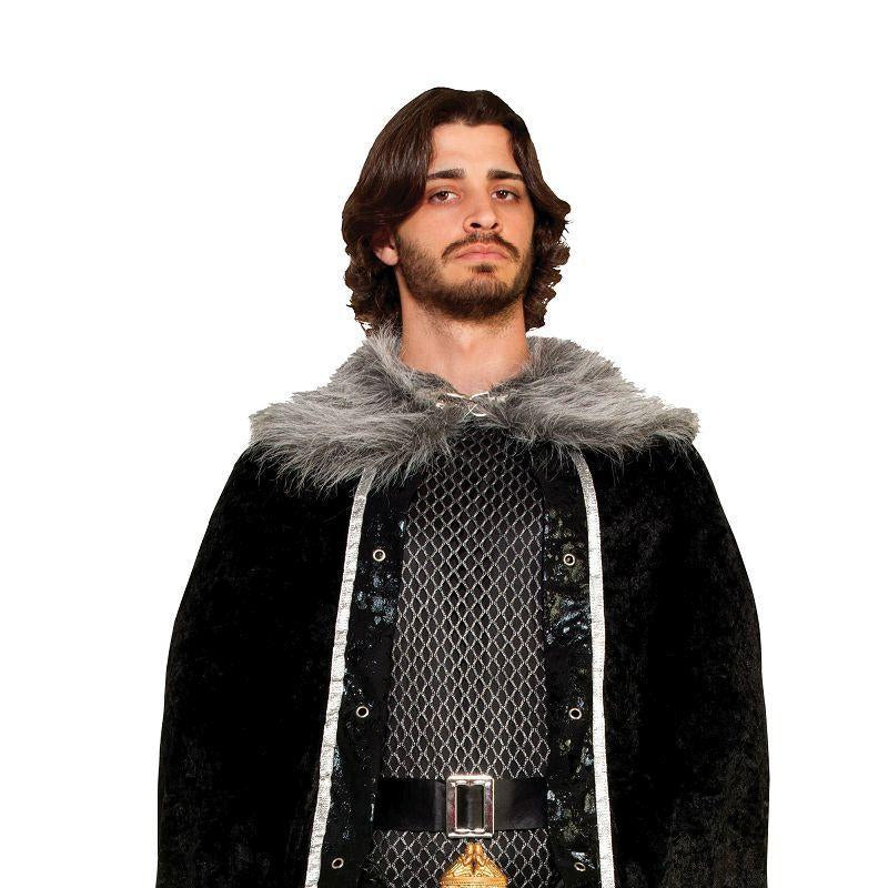 Mens Faux Fur Trimmed Cape Black. Male (Adult Costumes) - Male - One Size Halloween Costume