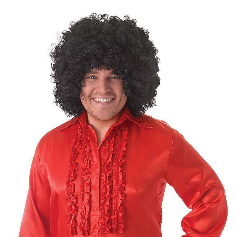 Mens Satin Shirt & Ruffles. Red Adult Costume - Male - One Size Halloween Costume