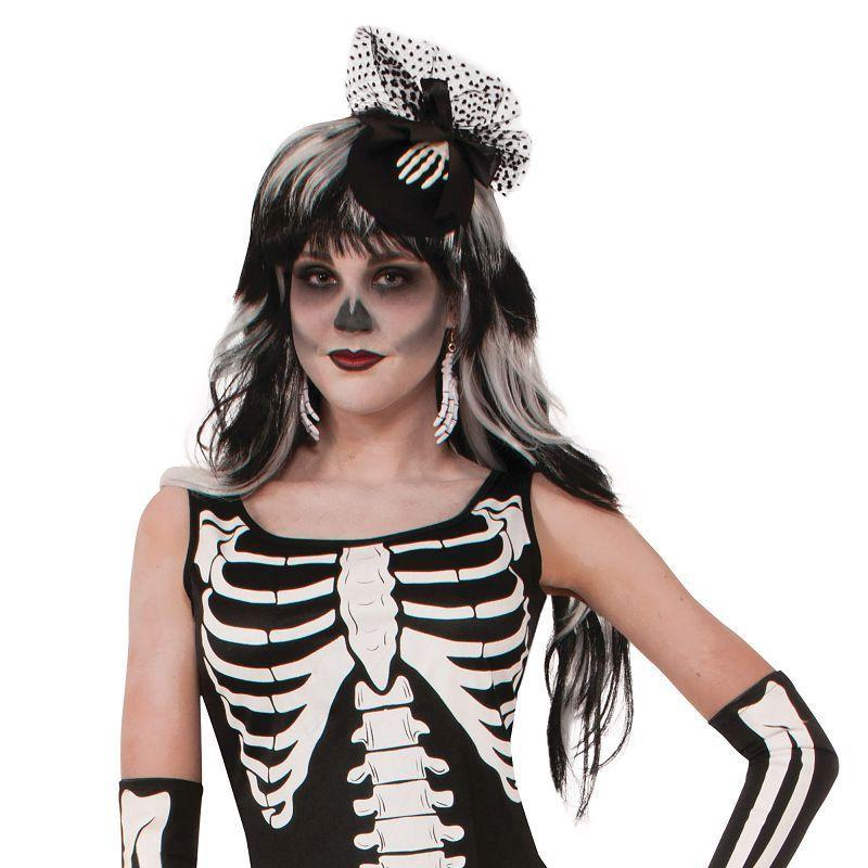 Womens Skeleton Long Dress (Robe) (Adult Costumes) - Female - One Size Halloween Costume
