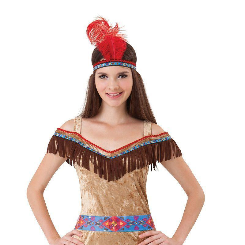 Womens Indian Lady Deluxe (Adult Costumes) - Female - One Size Halloween Costume