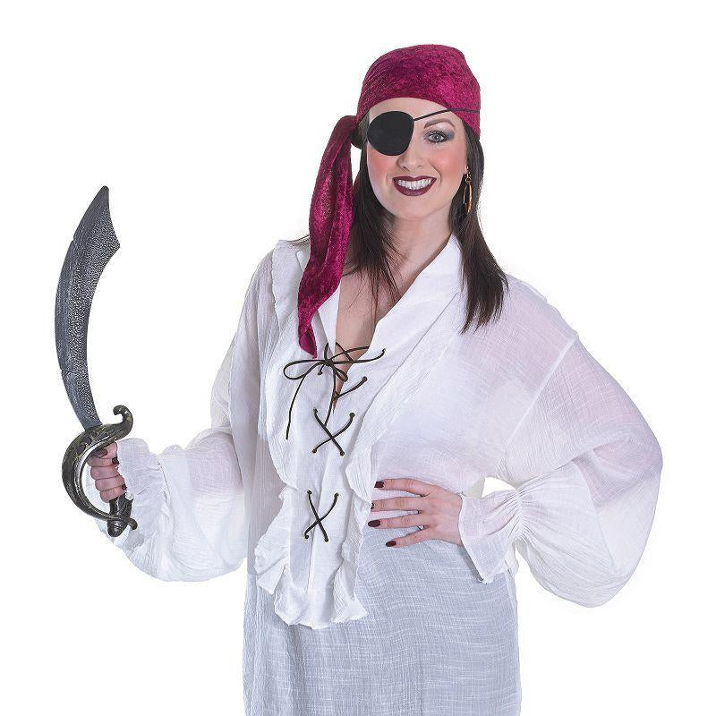 Womens Pirate Shirt Ladies Adult Costume - Female - One Size Halloween Costume