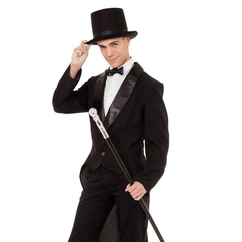 Mens Tailcoat Black (Male) Adult Costume - Male - One Size Halloween Costume