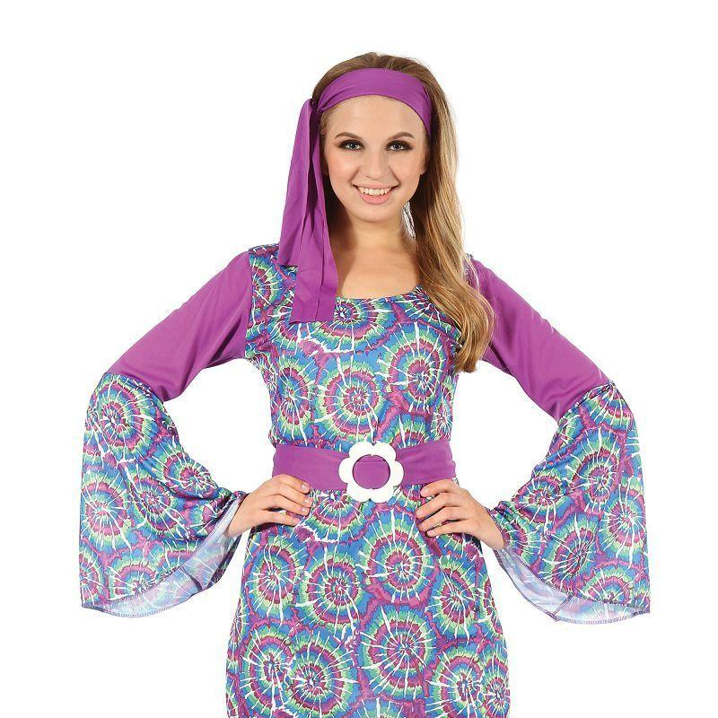 Womens Groovy Psychedellic Hippy Lady Dress( Adult Costumes) - Female - One Size Halloween Costume