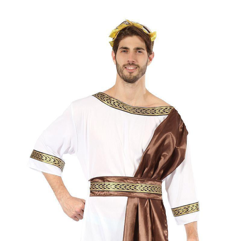Mens Greek God with Brown Sash( Adult Costumes) - Male - One Size Halloween Costume