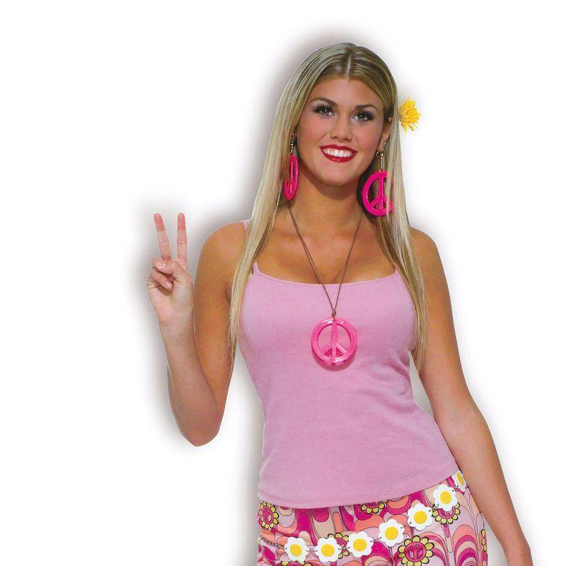 Womens Flower Power Bell Bottom Trousers Adult Costume - Female - One Size Halloween Costume