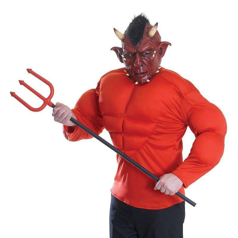 Mens Devil Costume (Padded Top) (Adult Costumes) - Male - One Size Halloween Costume