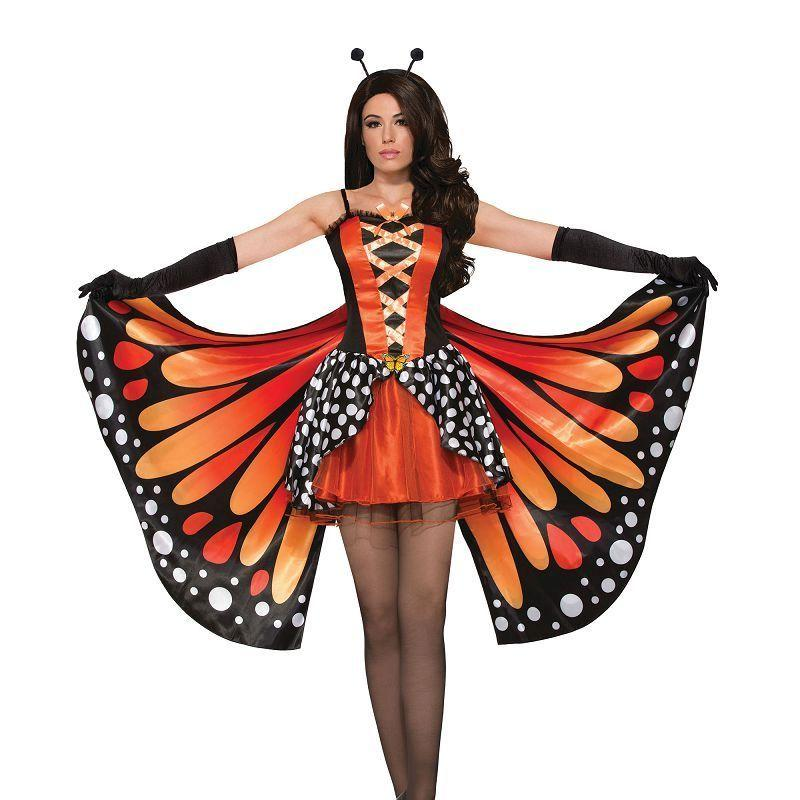 Miss Monarch Butterfly Costume (Adult Costumes) - UK Size 10-14